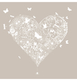 Wedding heart vector image