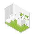 Toilet room isometric icon set vector image