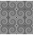 Design seamless monochrome wave pattern vector image