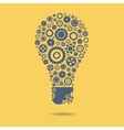 Gears icon form the shape of light bulbs concept vector image
