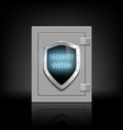 metal safe with a shield vector image