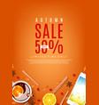 orange flyer for autumn sale vector image