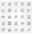 Success icons linear set vector image