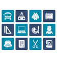 Flat School and education objects vector image vector image