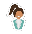 people fashionista woman with head taid vector image