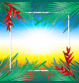 coconut leaves on frame vector image