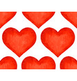 watercolor heart pattern vector image vector image