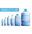 plastic bottles icon set vector image vector image