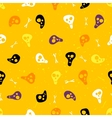 Halloween seamless pattern with skulls and bones vector image vector image