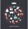 merry christmas and happy hanukkah seasonal vector image