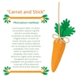 Motivation method to get the carrot vector image
