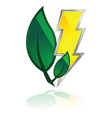 leaves and lightning vector image vector image