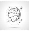 Basketball world thin line design icon vector image