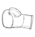 boxing gloves sport equipment vector image