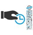 Clock Properties Hand Flat Icon With Bonus vector image