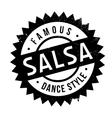 Famous dance style salsa stamp vector image