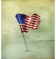 Flag of the United States old-style vector image