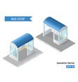Isometric with bus stop icon vector image