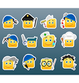 Professions smile stickers vector image
