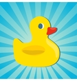 Rubber duck icon vector image