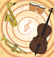 Set of jazz music instruments vector image