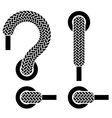 shoe lace question exclamation marks vector image