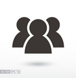 Users flat icon sign user vector image