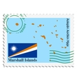 mail to-from Marshal Islands vector image vector image