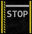 asphalt stop road sign vector image