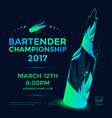 bartender championship poster vector image