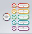 infographic template with 5 options vector image