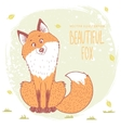 fox color vector image