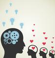 Love idea vector image vector image