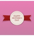Mothers Day Banner with Ribbon vector image