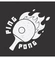 Retro ping-pong vector image vector image