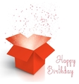 Happy Birthday Realistic Magic Open Box Magic Box vector image