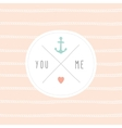 Anchor wedding invitation template vector image