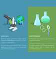 explore and experiment template poster vector image