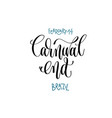 february 14 - carnival end - brazil hand vector image