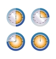 Glass hours vector image