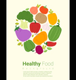 Healthy food background with vegetable 2 vector image