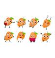 mango fruits cartoon character vector image