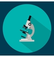 Modern flat icon of microscope vector image