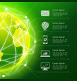 Network green background vector image