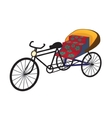 Oriental tricycle rickshaw cab vector image