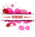 pink blots vector image