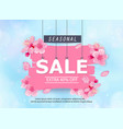 seasonal sale banner with flowers vector image