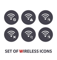Set of wireless icons vector image