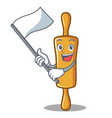 with flag rolling pin character cartoon vector image