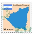 mail to-from Nicaragua vector image vector image